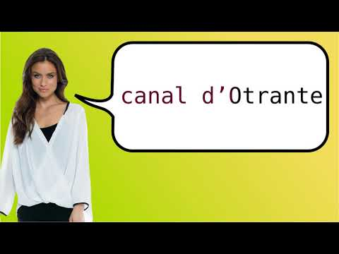 How to say 'Strait of Otranto' in French?