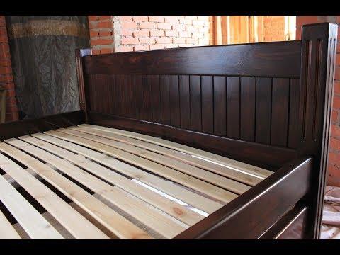 Кровать из массива дерева своими руками видео