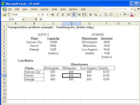 Basic TSP Formulation in Excel