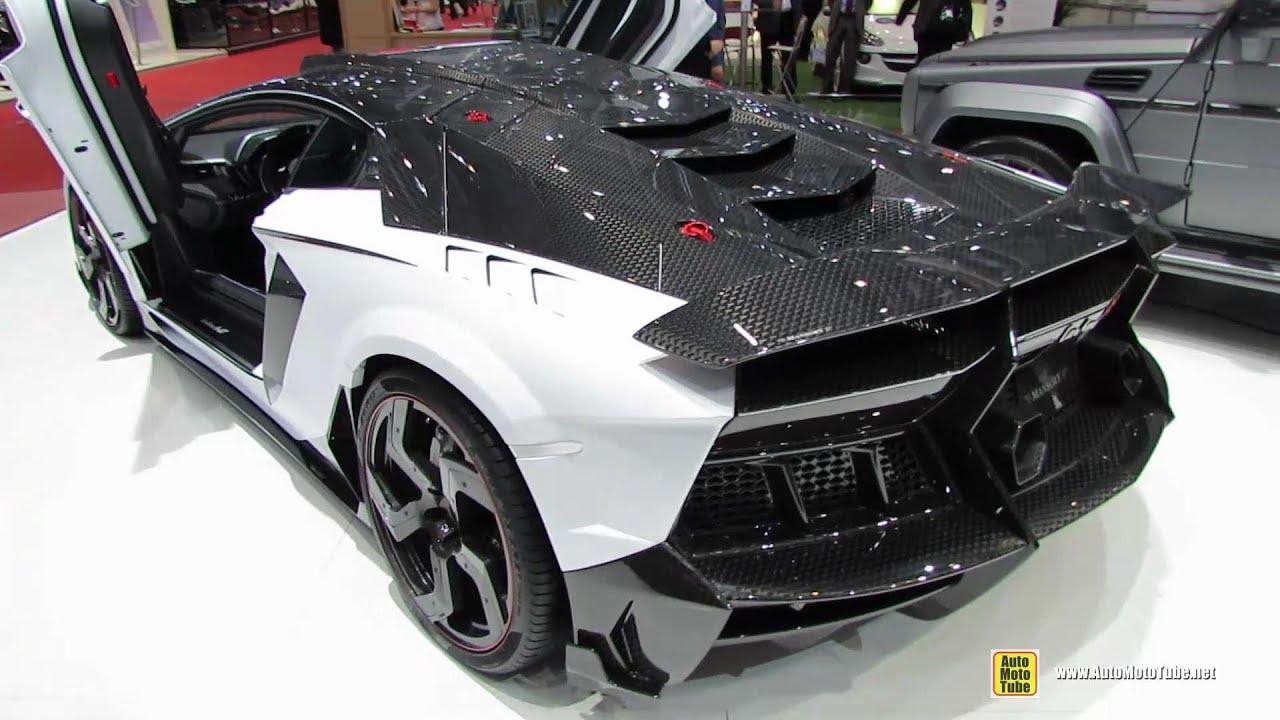 2014 Lamborghini Aventador Carbonado Gt Stealth Edition By Mansory Exterior Interior