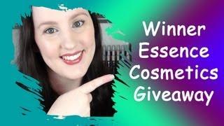Winner Essence Cosmetics Giveaway!