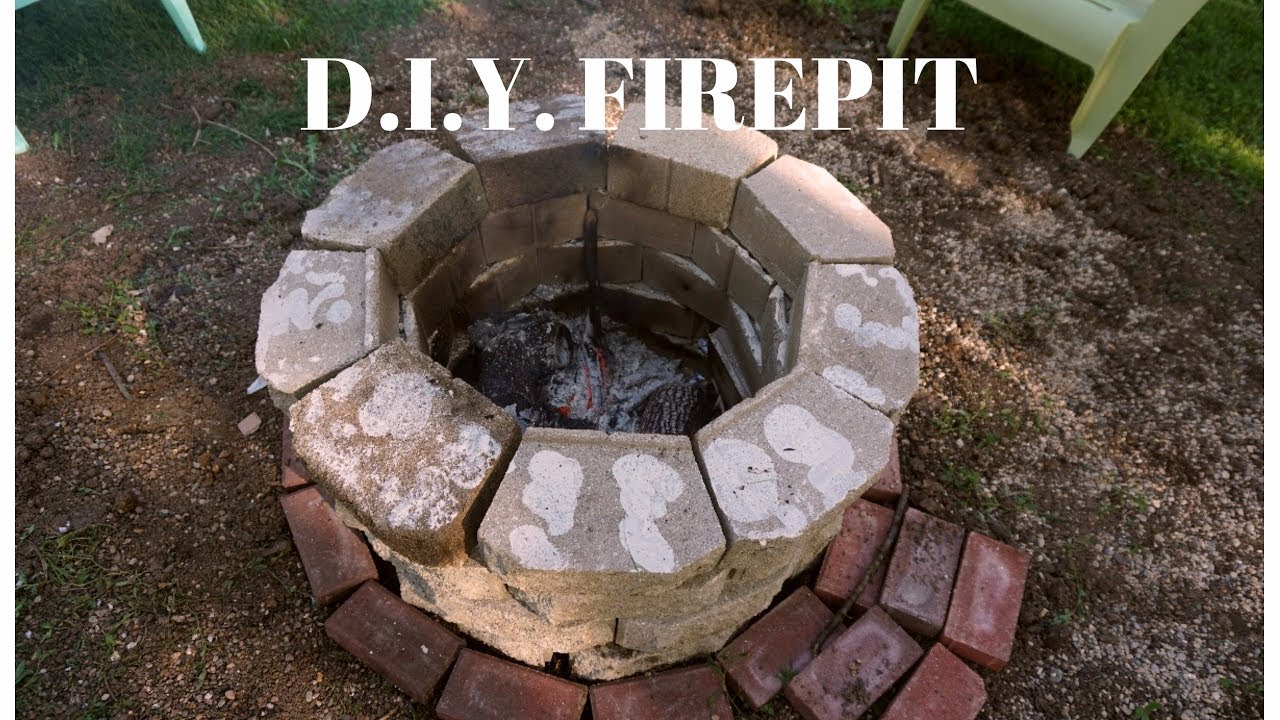 D i y outdoor fire pit simple inexpensive