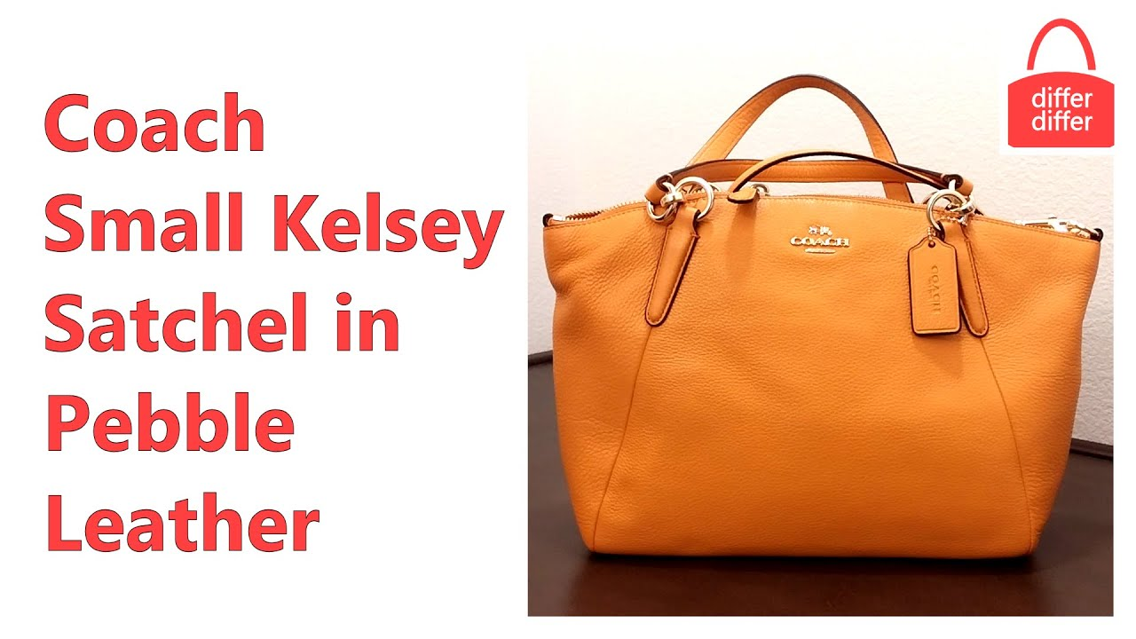 Coach Small Kelsey Satchel In Pebble Leather 36675 Youtube