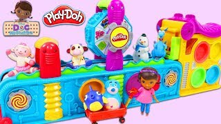 Disney Jr Doc Mcstuffins and Friends Visit Magic Play Doh Mega Fun Factory Playset!
