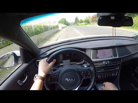 KIA Optima GT SW 2.0t  Top Speed (255 Km/h) On Autobahn - By Car's POV