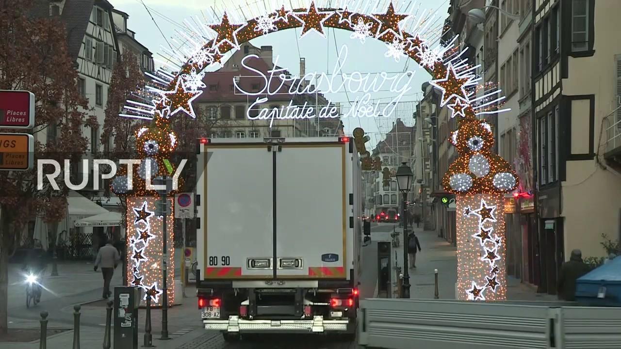 Strasbourg Christmas Market Shooting.Live Aftermath Of Strasbourg Christmas Market Shooting
