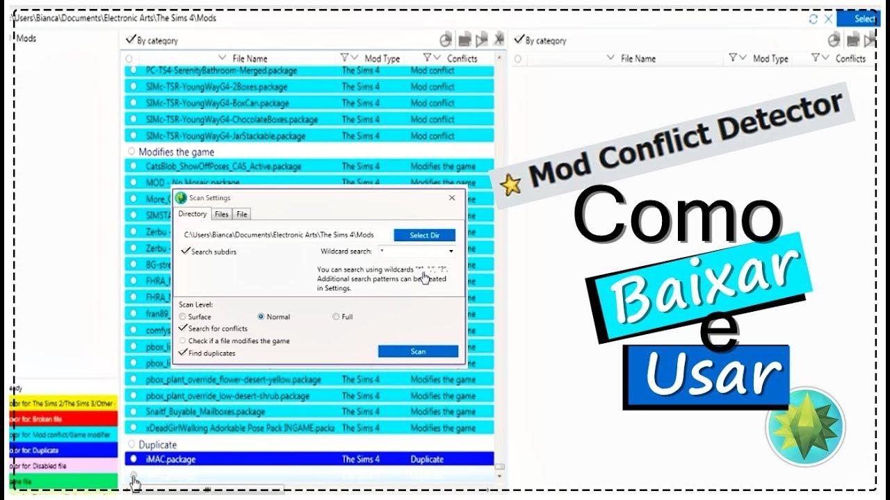 Como Baixar e Usar Mod Conflit Detector - Ferbi Sims