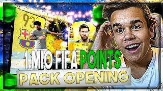 bner messi icon 40 walkouts   1 million fifa points pack opening