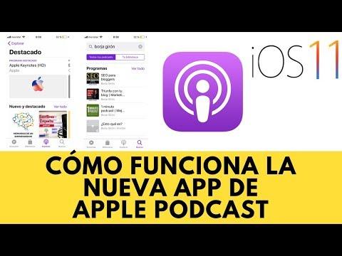 Cómo funciona la nueva app Apple Podcast