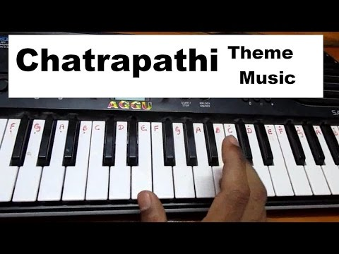 Learn (How) to play Agni skalana - Chatrapathi full song music on keyboard or piano HD