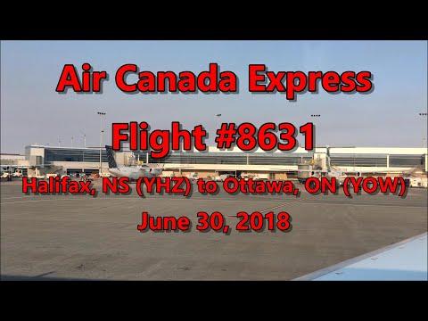 Air Canada Flight From Halifax (YHZ) To Ottawa (YOW) 06-30-18