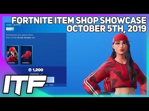 Fortnite Item Shop *NEW* RUBY SET! [October 5th, 2019] (Fortnite Battle Royale)