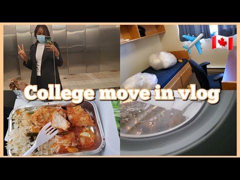 College Move-in Vlog    moving to Canada from Nigeria on my own at 16