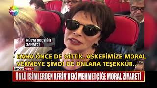 Ünlü isimlerden Afrin'deki Mehmetçiğe moral ziyareti