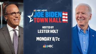 Joe Biden Town Hall Hosted By Lester Holt | NBC News NOW