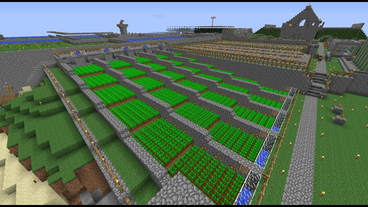 Minecraft Carrot Farm - YouTube