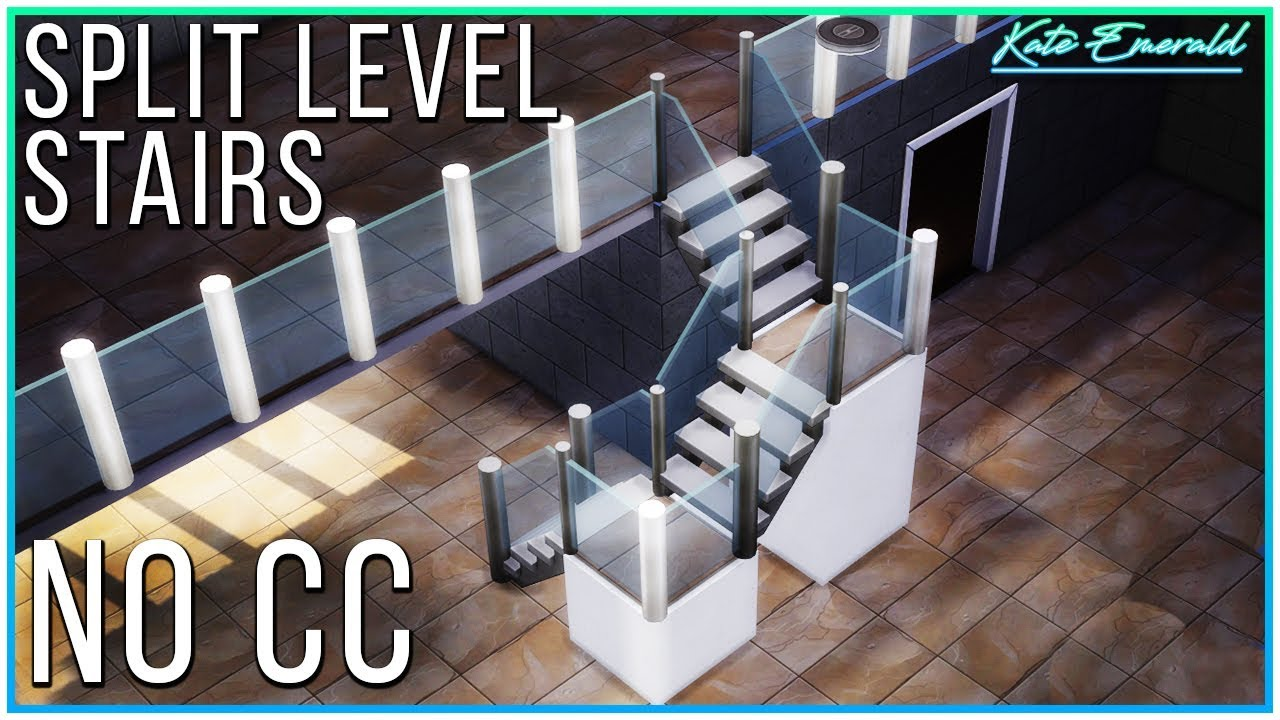 Sims 4 Tutorial Split Level Stairs Kate Emerald Youtube | Split Level Entry Stairs | Raised Ranch | Tri Level | Modern | Knee Wall | Entrance
