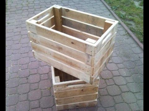 сделать ящик для дров из поддонов