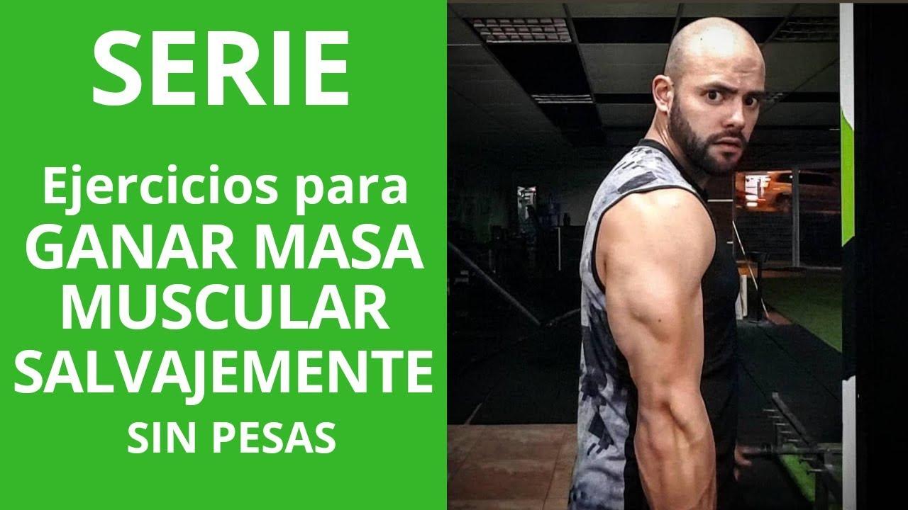 como subir masa muscular sin ejercicio