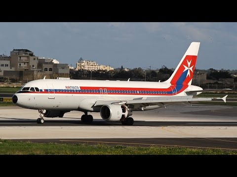 A full day of PlaneSpotting at Malta International Airport - January 2017