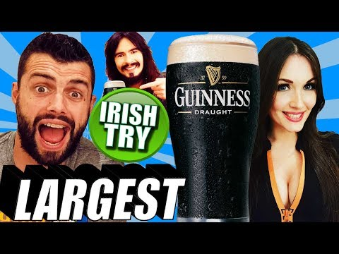 Irish People Try Largest Pint Of Guinness Challenge!! - (2.5L Yard)