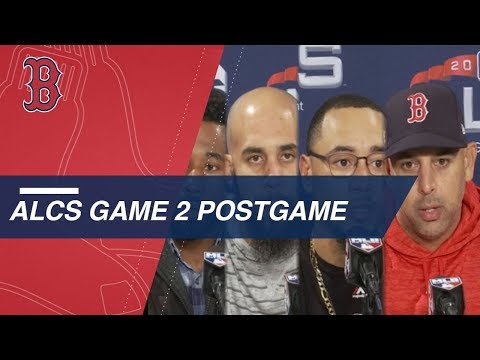 ALCS Gm2: Red Sox discuss 7-5 win over Astros