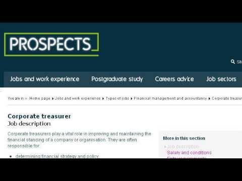 Company Treasurer Job Description - Youtube
