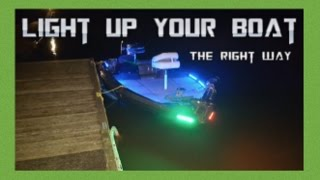 Quality LED light system for your bass boat
