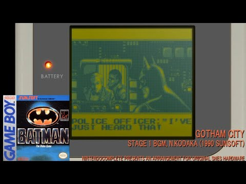 ♫GOTHAM CITY (Batman, Game Boy) SNES Arrangement - NintendoComplete