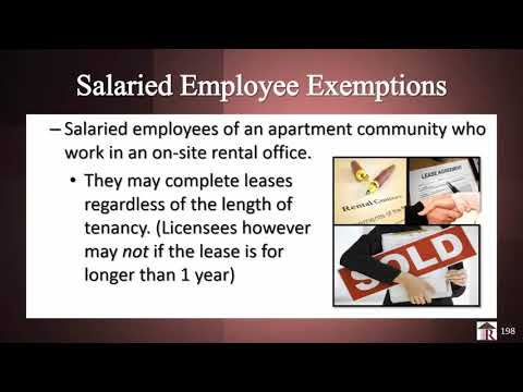 Florida Real Estate License Salaried Employee Exemptions