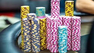 CRAZY ACTION Flop Leads to Huge Pot ♠ Live at the Bike!