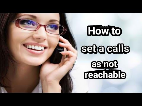 How To Set The Call As Not Reachable
