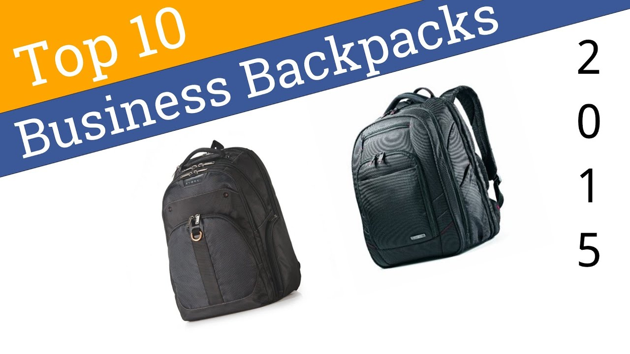 10 Best Business Backpacks 2015 - YouTube