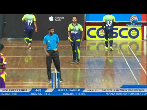 indo riders ashes vs mixes 8 kannurKMCC 2017 | Indoor Cricket Live Kerala