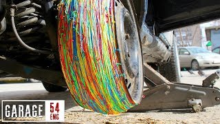 25000 rubber bands instead of a tire