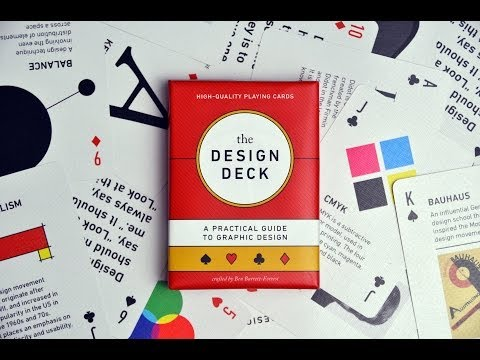 The Design Deck teaches graphic design as you play cards