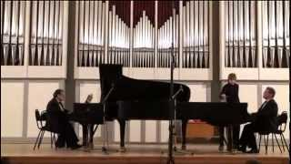 Alexander Rykel and Lev Shugom play Rachmaninov Russian Rhapsody for two pianos