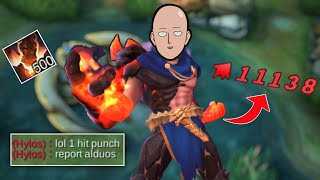 Download lagu BUG DAMAGE?? WTF 500 STACKS ONE PUNCH MAN in MOBILE LEGEND IS REAL   MLBB