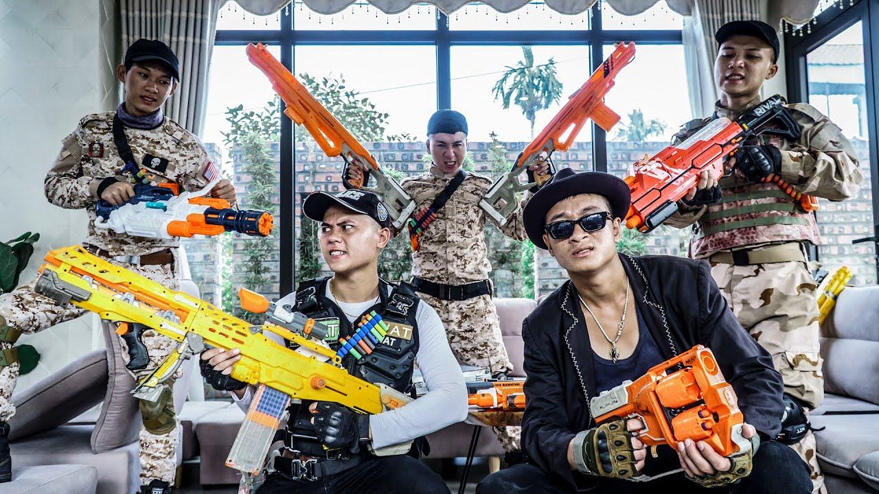 LTT Nerf War : SEAL X Warriors Nerf Guns Fight Crime Dr Ken Crazy Attack Captain Mansion