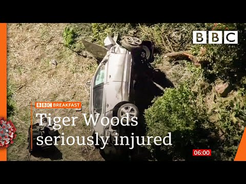 Tiger Woods undergoes surgery after car crash ? @BBC News live - BBC