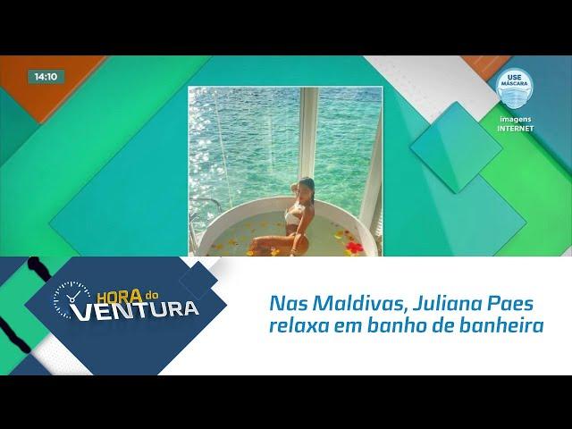 Nas Maldivas, Juliana Paes relaxa em banho de banheira e encanta seguidores