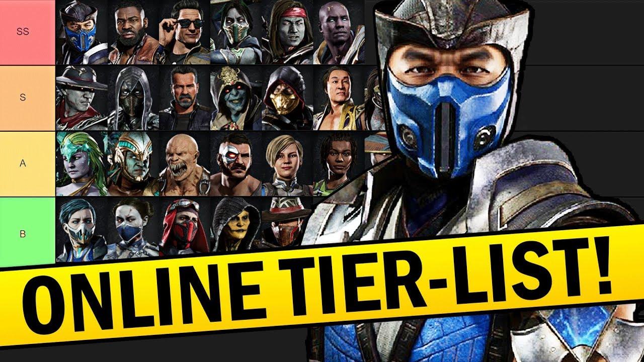 Mortal Kombat 11 The Definitive Online Tier List Youtube