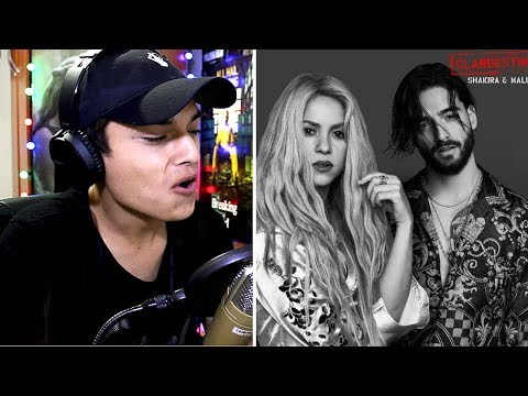 Shakira, Maluma - Clandestino - Maluma Shakira (Audio) Reaccion
