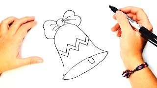 How to draw a Christmas Bell Step by Step | Christmas drawings