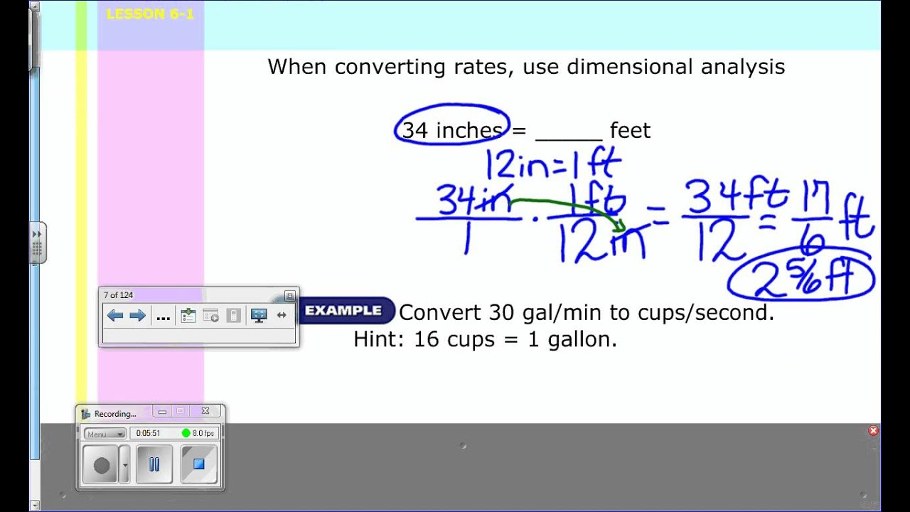 hight resolution of Unit Rates - Grade 7 (solutions