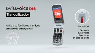 Swissvoice D28   Teléfono móvil para mayores