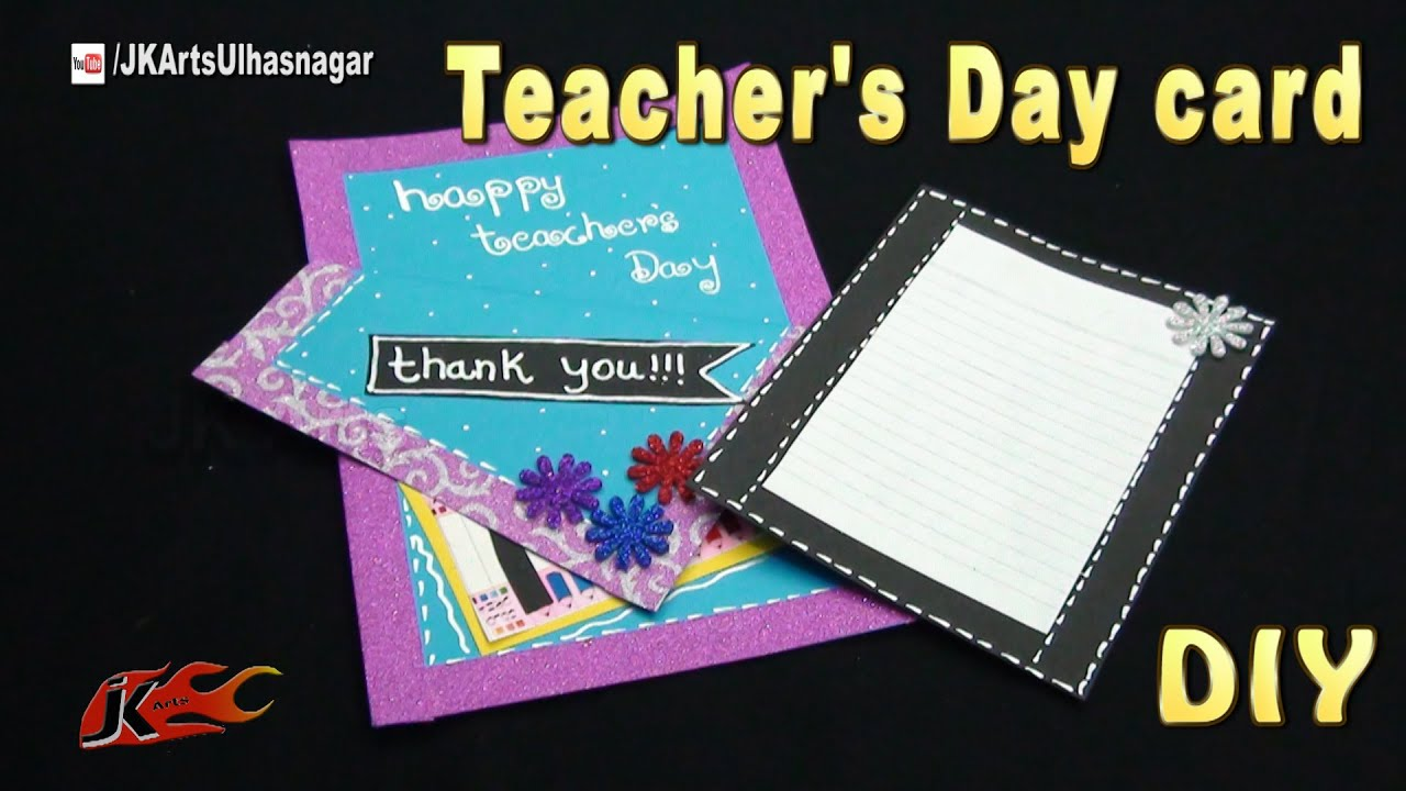 Diy Easy Teachers Day Greeting Card Broken Shape Card Jk Arts