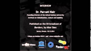 BORDERS (04) - Interview Parvati Nair - Founding Director UNU-GCM