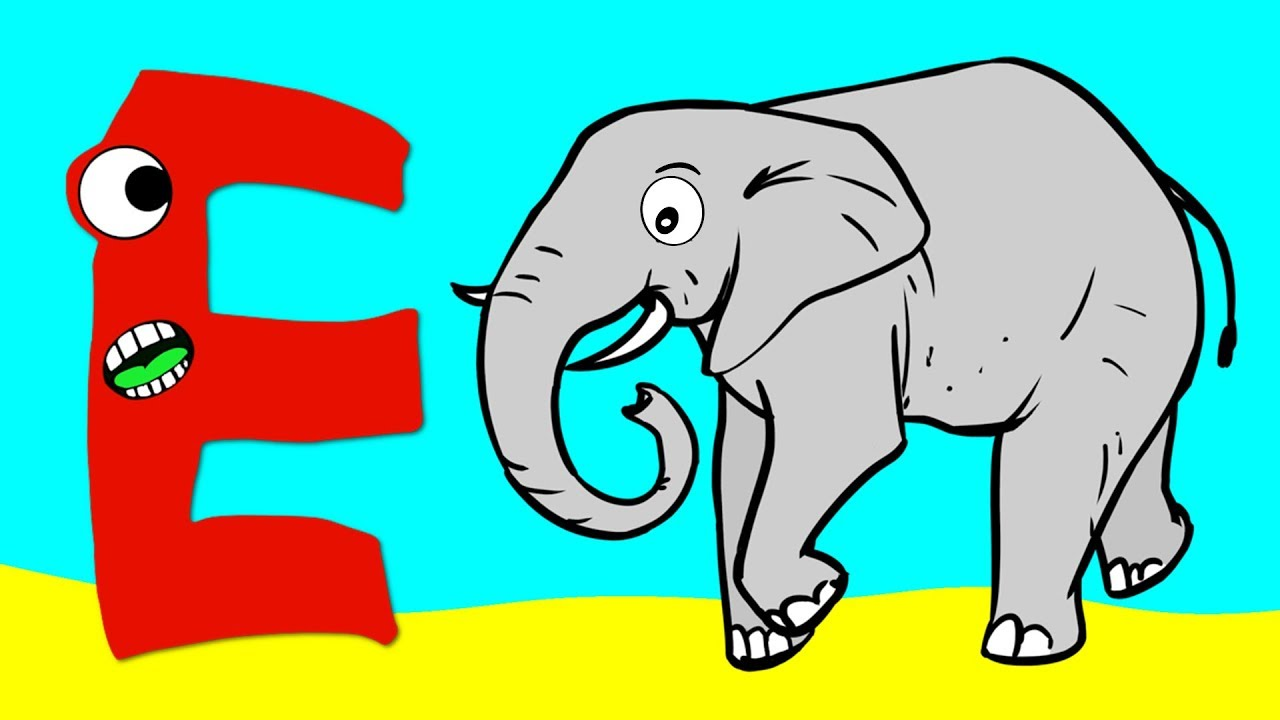 what animal starts with the letter i learn the alphabet animals letter e elephant 25501 | maxresdefault