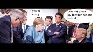 G7 summit: Merkel and Donald Trump ( funny picture)